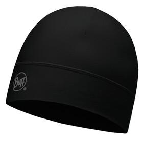 Buff Microfiber Hat Solid Black